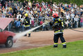 Fire and rescue units in action Stock Images