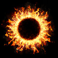 Fire Ring In The Dark Royalty Free Stock Photo