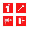 Fire safety sign vector illustration. Royalty Free Stock Photo