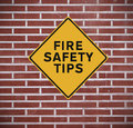 Fire Safety Tips Royalty Free Stock Photo
