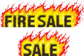Fire sale drawing the word sales can be used for sales Stock Photo