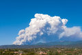 Fire, Sangre de Cristo Mtns. Santa Fe, New Mexico Royalty Free Stock Image