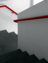 Fire scape escape ladder concrete stairs on the internal of a building brazil Stock Image