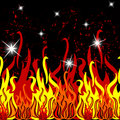 Fire seamless pattern Stock Image