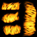 Fire set Royalty Free Stock Photo