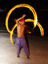 Fire show festival at the beach panglao philippines february unidentified man performing a dance with philippines is one of Royalty Free Stock Photos
