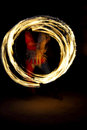 Fire show night a abstract Stock Photography