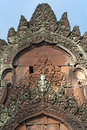 Fire shrine, Banteay Srei temple, Cambodia Stock Photo