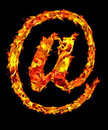 Fire at-sign Royalty Free Stock Images