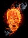 Fire skull Royalty Free Stock Photo