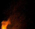 Fire sparks background Royalty Free Stock Photo