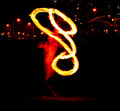 Fire spinning Stock Images