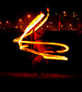 Fire spinning Royalty Free Stock Image