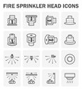 Fire sprinkler icon Royalty Free Stock Photo