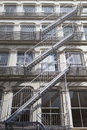 The fire stairs on old house, New York Royalty Free Stock Photo