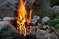 Fire among stones Royalty Free Stock Photography