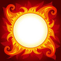 Fire or sun vector background Stock Photos