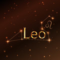 Fire symbol of Leo zodiac sign, horoscope, vector art and illustration. Royalty Free Stock Photo
