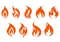 Fire symbols Royalty Free Stock Photo