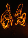 Fire symetrie a lightpainted symetric figure made with boys Royalty Free Stock Images