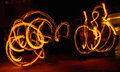 Fire symetrie a lightpainted symetric figure made with boys Stock Photography