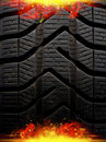 Fire tire Stock Photos