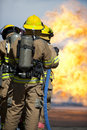 Fire training exercise Royalty Free Stock Image