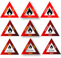Fire Triangle - Safety Diagram Royalty Free Stock Image