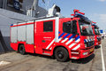 Fire truck den helder the netherlands july firetrucks during the dutch navy days on july in den helder the netherlands Royalty Free Stock Images