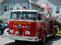 Fire truck on display at the mill basin car show brooklyn new york july held july in brooklyn new york Royalty Free Stock Images