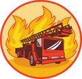 Fire truck or engine appliance Royalty Free Stock Photo