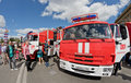 A fire truck on KAMAZ chassis Royalty Free Stock Photo