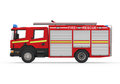 Fire truck on white background d render Stock Image