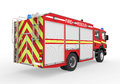 Fire truck on white background d render Stock Images