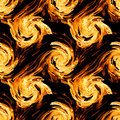 Fire twirls abstract seamless pattern background Stock Photography