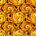 Fire twirls abstract seamless pattern background Stock Image