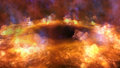 Fire Visualization Royalty Free Stock Photo
