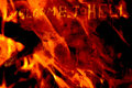 Fire wall background Stock Images