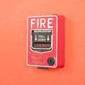 Fire warn box on the wall Royalty Free Stock Photos