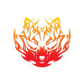 Fire wolf vector illustration of head Royalty Free Stock Photos