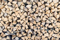 Fire wood stacked in a pile Royalty Free Stock Photo