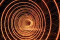 Fire Works Tunnel Vision Spiral Royalty Free Stock Photo