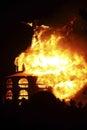Fireball Erupts Royalty Free Stock Photo