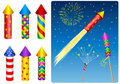 Firecracker, fireworks, rocket Royalty Free Stock Photo
