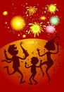 Firecrackers party and family Royalty Free Stock Image