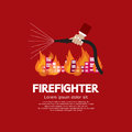 Firefighter graphic vector illustration Royalty Free Stock Images