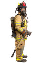 Firefighter mask  airpack protective suit Royalty Free Stock Photography