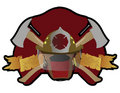 Firefighter patch Royalty Free Stock Image