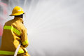 Firefighter Working Royalty Free Stock Photos