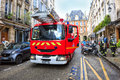Firefighters arrived at the emergency call, Paris Royalty Free Stock Photo